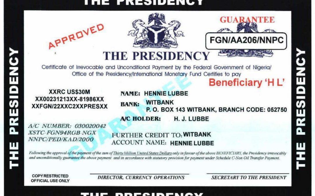 El fraude nigeriano